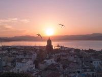 Saint-Tropez coucher soleil drone