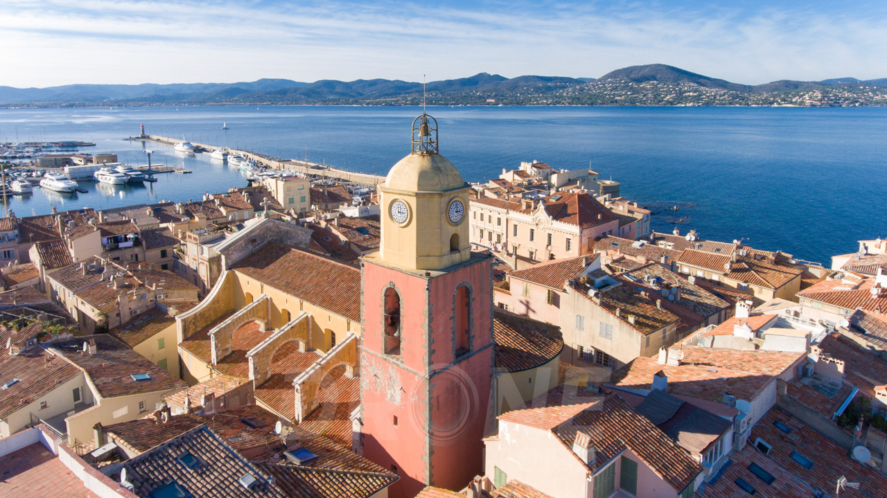 clocher St Tropez drone