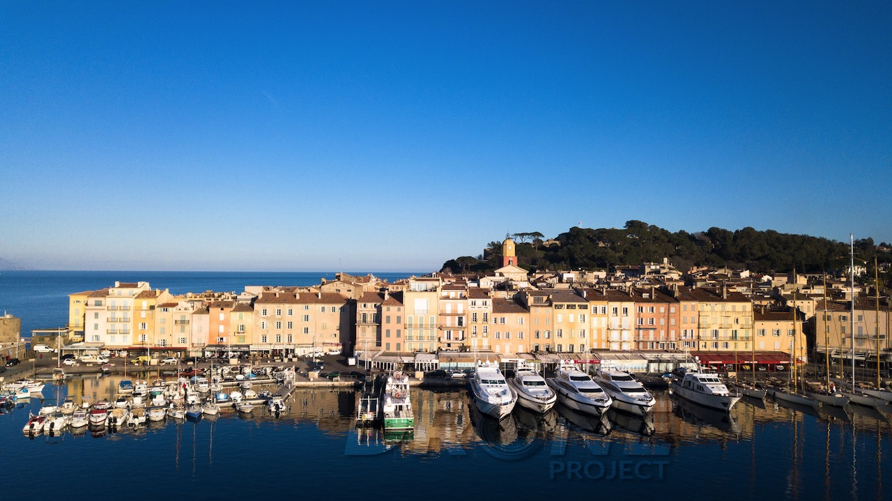 Port de Saint Tropez drone ©drone-project