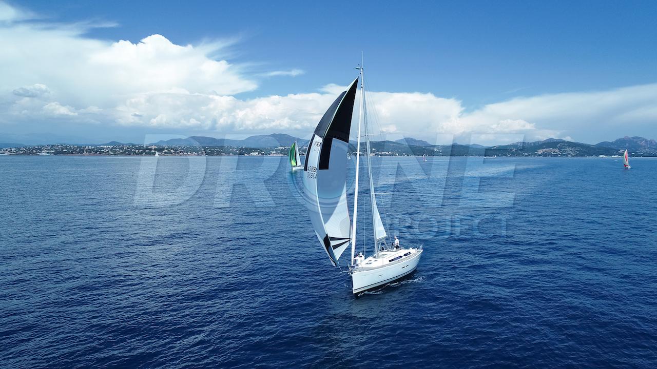 Dufour Yacht drone voiles Var ©drone-project.net